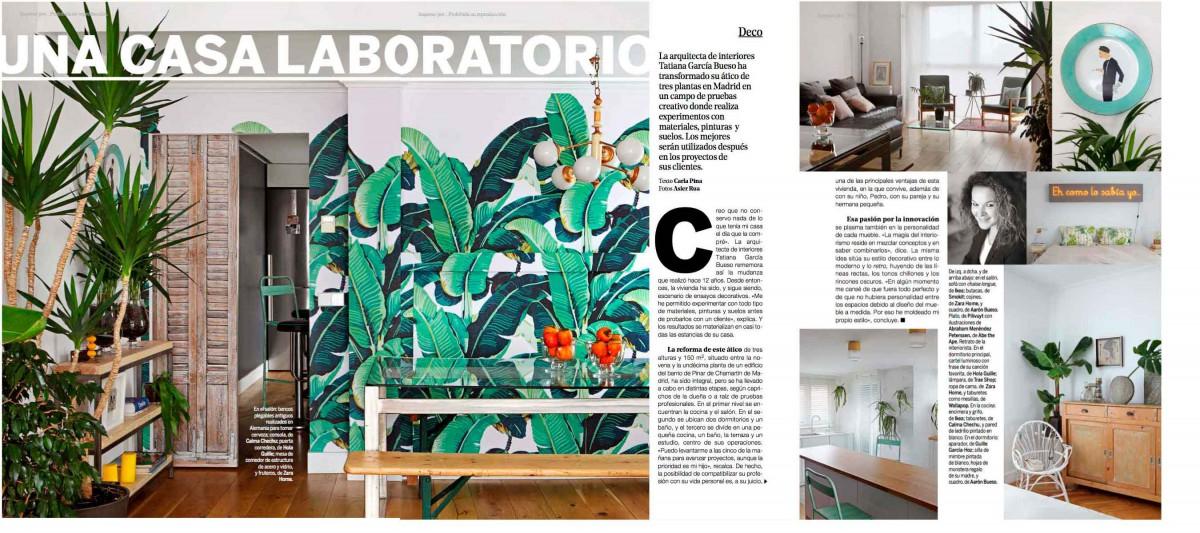Una casa laboratorio, reportaje a Tatiana García Bueso en Yo Dona